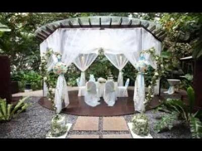 DIY Outdoor wedding decoration ideas