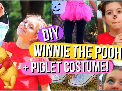 DIY Winnie the Pooh and Piglet Halloween Costumes!