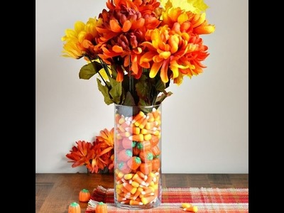 Easy DIY Fall Candy Filled Flower Vase Craft
