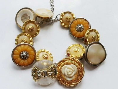 How To Create Pretty Vintage Button Bracelet - DIY Style Tutorial - Guidecentral