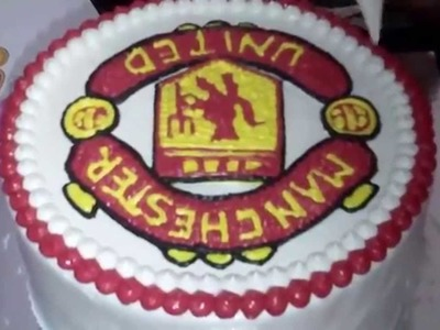How to Easy Decorate Manchester United Cake Logo