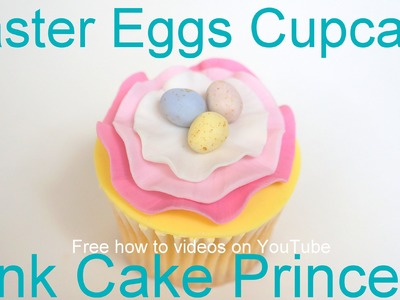 How to Make an Easter Eggs Ruffled Cupcake - A Collaboration with The Squishy Monster