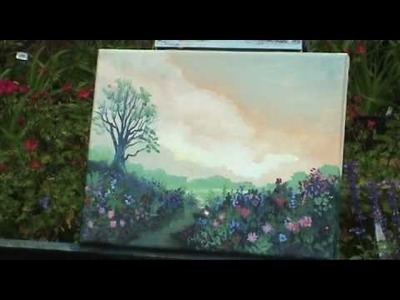 Painting My Wife's Garden - Outdoor acrylic - Gary Garrett painting demo