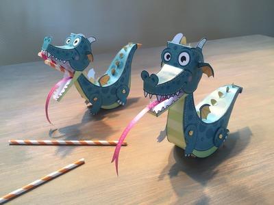 Sprocket's Paper Dragon - kids craft activity - video tutorial