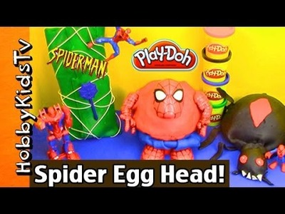 Yo-Yo Big Play-Doh SPIDERMAN! Rotten Teeth HUGE Spider Egg + Makeover Drill & Fill by HobbyKidsTV