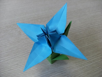 3D origami - flower - daffodil - how to make