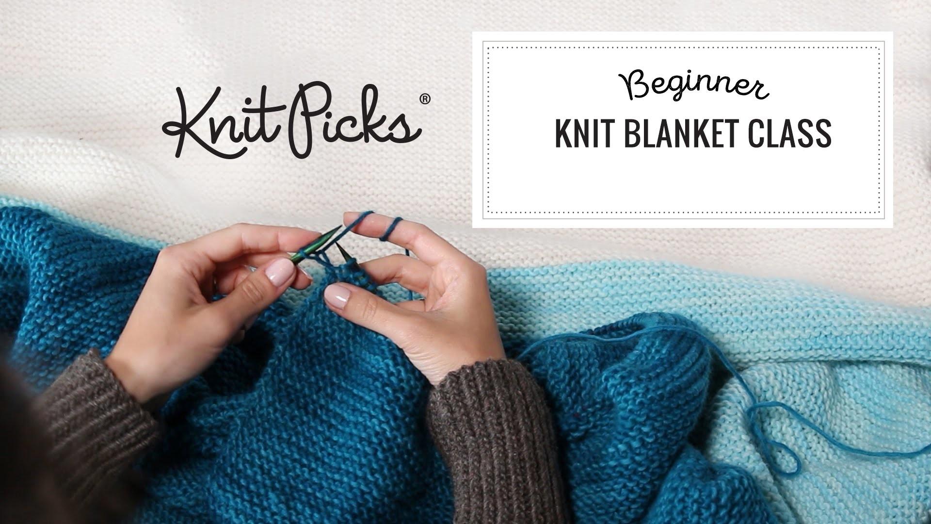 Beginner Knit Blanket Class, Part 5: Starting a New Row