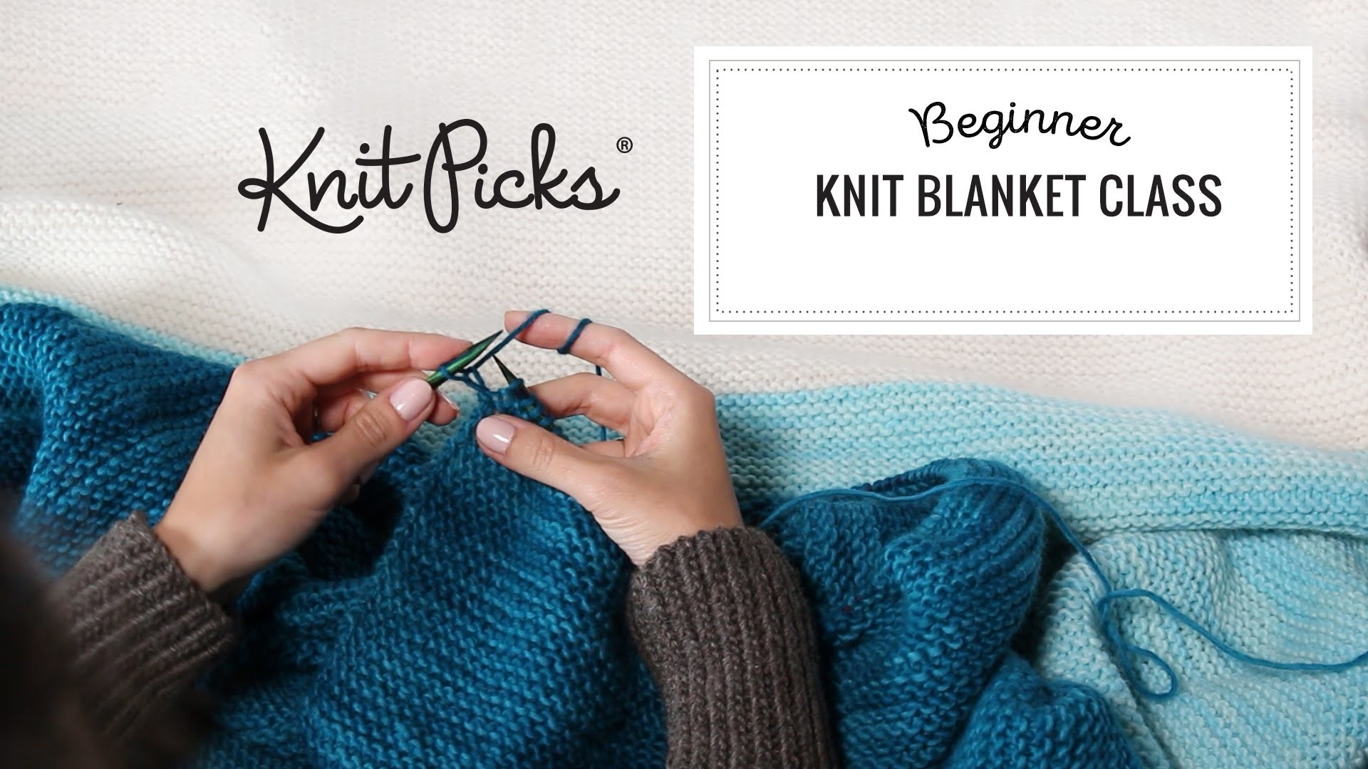 Beginner Knit Blanket Class, Part 8: Binding Off Your Last Stitches