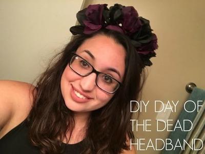 DIY DAY OF THE DEAD HEAD BAND. FLOWER HEAD BAND. DIA DE LOS MUERTOS
