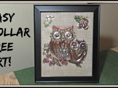 DIY Dollar Tree Owl Art!
