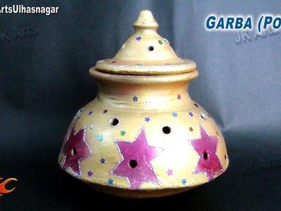 DIY Garba (Pot) decorations for Navratri, Diwali and wedding | JK Arts 708
