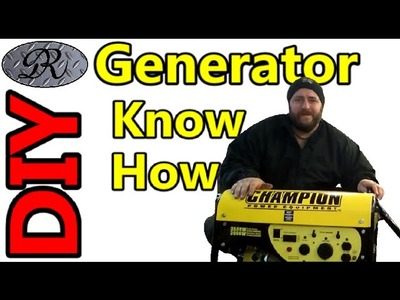 DIY Generator Maintenance To Prepare For Alternate Electric During Winter Snow Storm Power Outages