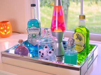 DIY Halloween Potion Bottles - Halloween Room Decor