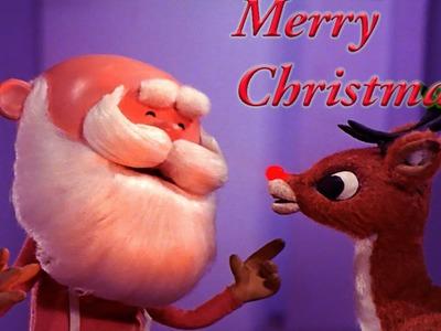 DIY: Handmade Rudolph & Santa Christmas Reindeer Craft!