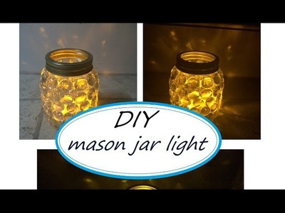 DIY: mason jar light (easy craft idea)