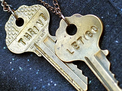 DIY Personalized Stamped Key Necklace