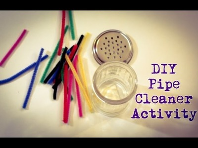 DIY Pipe Cleaner Activity for Toddlers and Preschool
