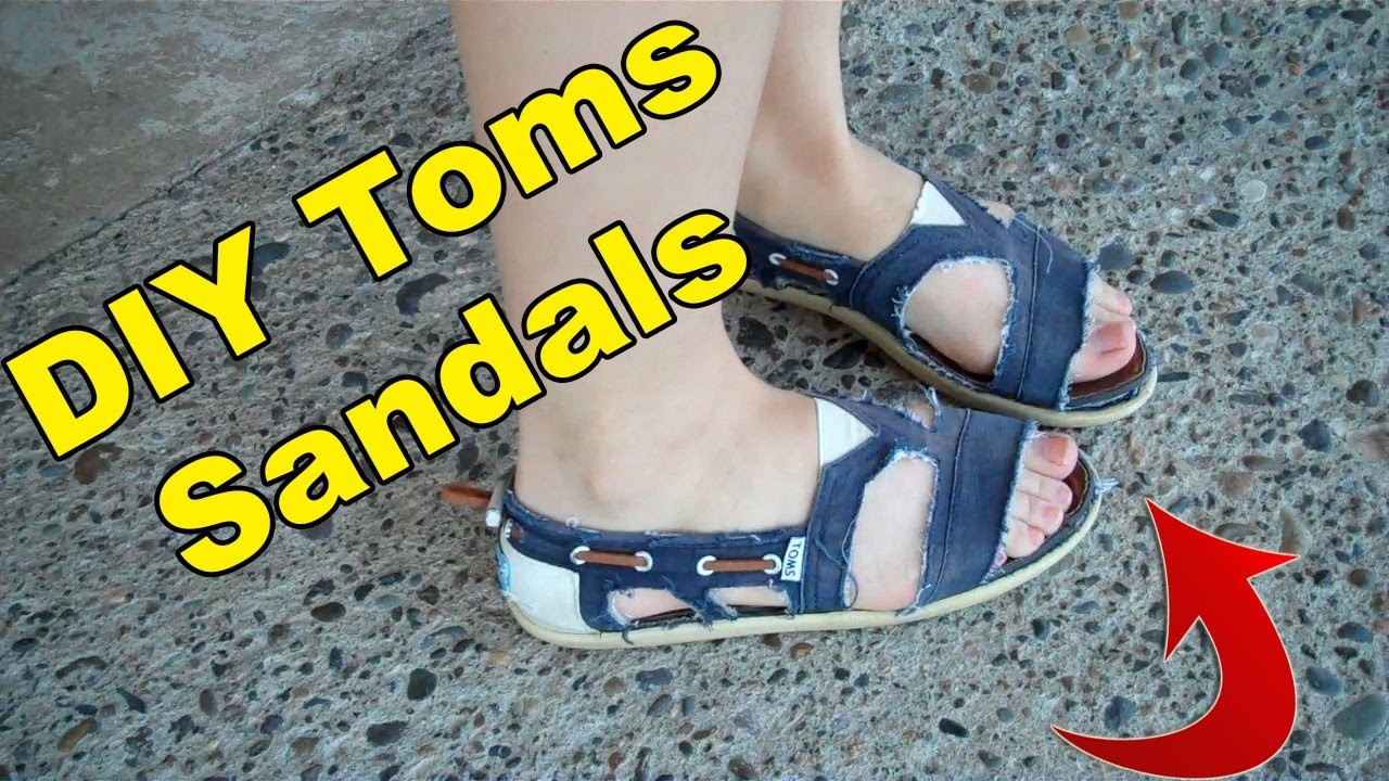 DIY Toms Sandals - The Haunting of Sunshine Girl