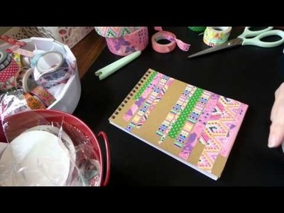 Dollar Tree DIY: Up-Do a notebook w. Duct Tape!