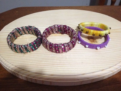 How to make Designer Bangles out of Old Bangles. Bracelet