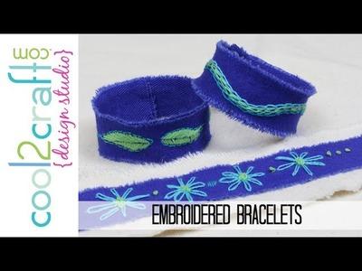 How to Make Embroidered Denim Bracelets