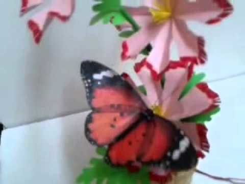 How to make fluttering butterfly