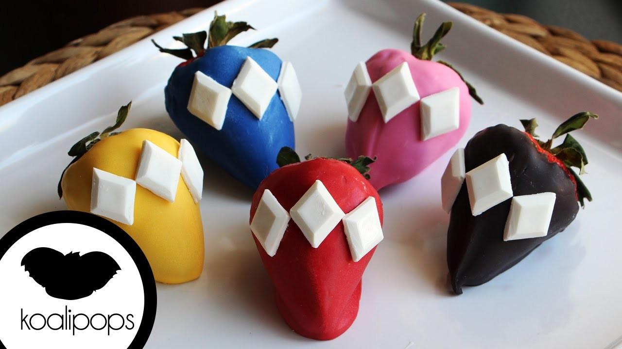 How to Make Power Rangers Strawberries