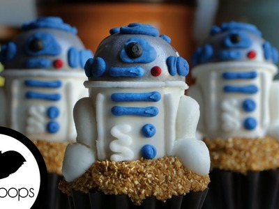 How to make Star Wars: The Force AWAKENS: R2D2 Cupcakes