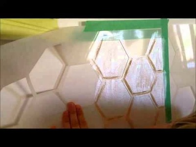 How to Stencil a Hexagon Backsplash to look like legit porcelain tile! {Sawdust and Embryos}