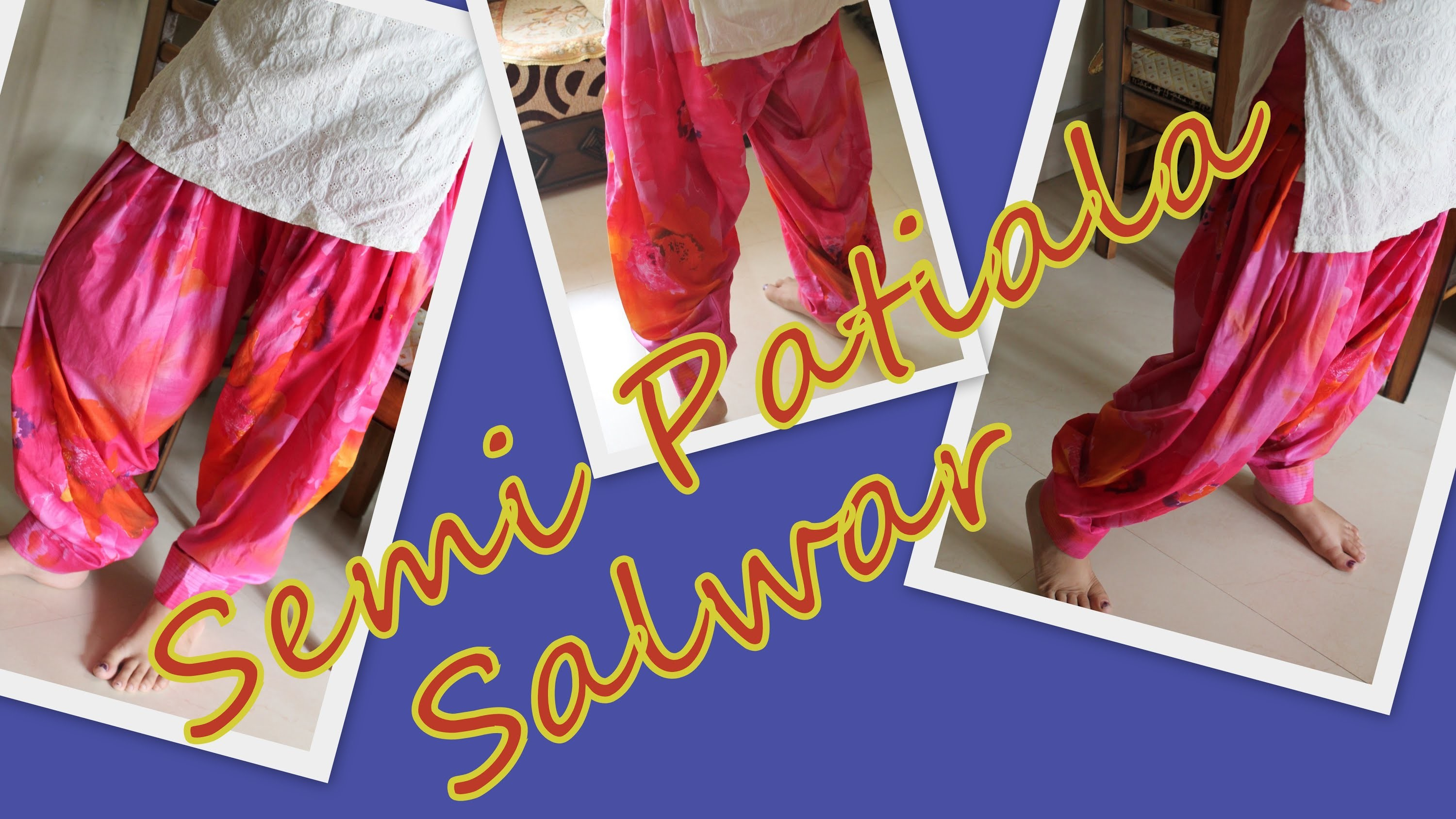 How to stitch semi-patiala salwar