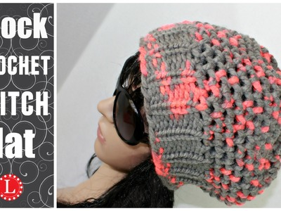 LOOM KNIT HATS - The Mock Crochet Hat Made on a 41-peg Extra Large Round