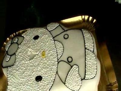 Making of Hello Kitty cake