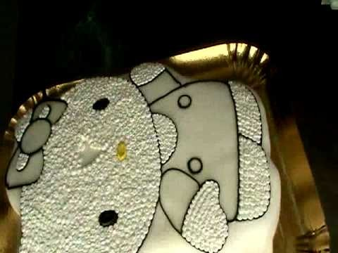 Making of Hello Kitty cake