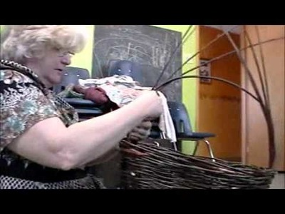 Nancy Today: Teaching how to make a basket handle ASMR basketmaking (basket making tutorial)