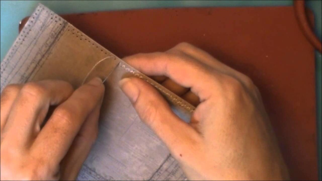 On Request :o) Handstitching the Edges of my Paper