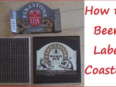 Sewing Nerd! - Tutorial: How to Make Beer Label Coasters!