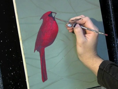 Time Lapse Acrylic Painting Cardinal on the Branch by Tim Gagnon http:.www.timgagnon.com