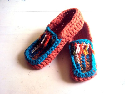 Crochet Slippers - Handmade Shoes - Easy on Boots by Grahams Bazaar
