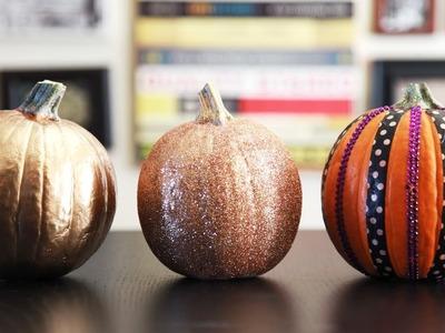 DECORATE A PUMPKIN FOR HALLOWEEN (3 WAYS) | cathydiep
