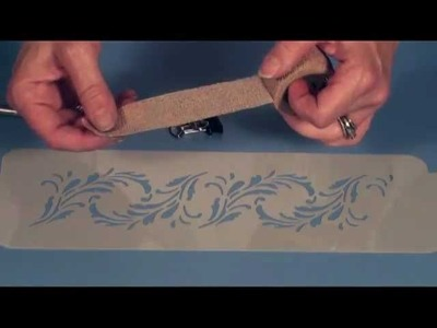 Designer Stencils - How To Hold The Stencil Flush To Your Cake