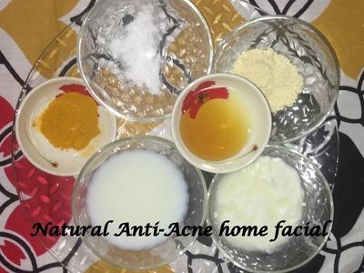 DIY Anti Acne Facial | Home Remedies Natural Organic |