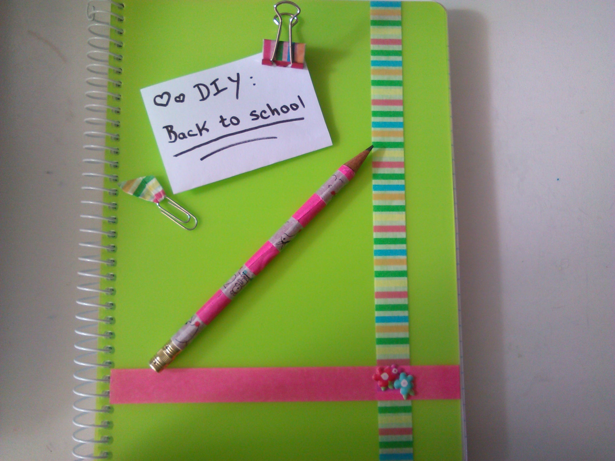 DIY -Back to school: Washi tape ideas
