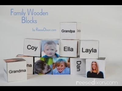 DIY Christmas gift for baby! Family Wooden Blocks