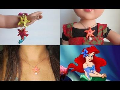 DIY Clay Star Fish Mermaid Jewelry - Bracelet & Locket