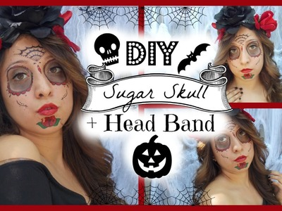 Halloween: DIY Sugar Skull + Headband!