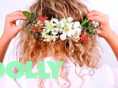 How-To: DOLLY's DIY formal prom floral crown   How-To Tuesdays