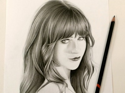 How to draw realistic hair- Speed drawing tutorial