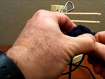How to easily make a Monkey's fist keychain laynard using a jig - Part 2