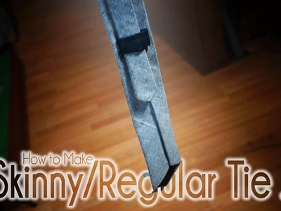 How to Make a Skinny Tie and Regular Necktie | Easy DIY Sewing