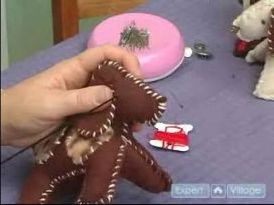 How to Make a Stuffed Animal : How to Sew the Eyes & Nose on a Stuffed Animal